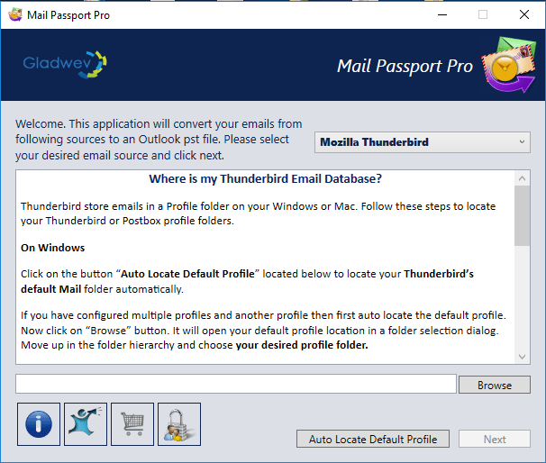 thunderbird export to pst
