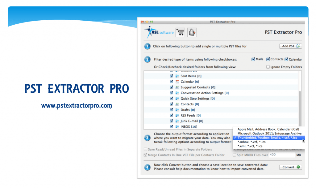 Outlook to Thunderbrid Converter Free
